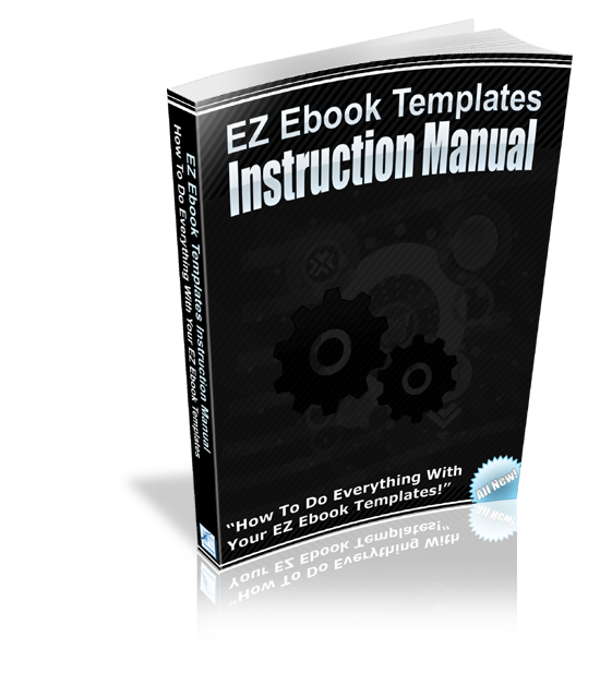 Thumbnail EZ Ebook Template Instruction Manual - MRR Included