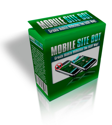 Product picture Mobile Site Bot with MRR - Create Mobile Site Easily