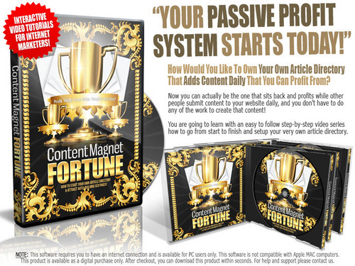 Product picture Content Magnet Fortune Video Course ( Master Resell Rights )