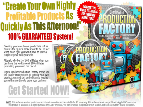 Product picture Product Production Factory Video Course with MRR!