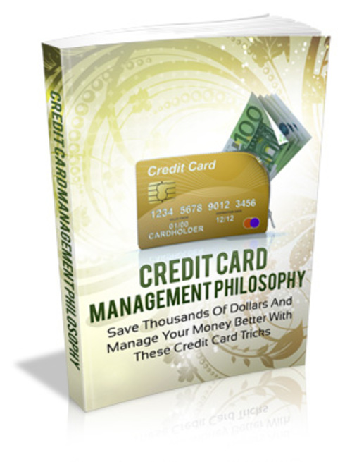 Product picture Credit Card Management Philosophy with MRR
